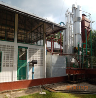 Palm kernel shell rice husk biomass gasifier biomass gasification power plant in Indonesia