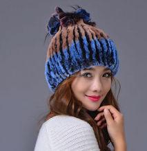 rex rabbit fur rose bonnet hat/rabbit fur hat child/knitted rabbit fur hats girls