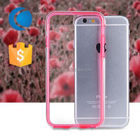 Ultra thin soft tpu and pc mobile phone cover silicone phone case maker for apple iphone 6
