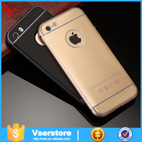Luxury Ultra-thin Aluminum Metal Bumper PC Back Case Cover For Apple for Iphone 6 Plus