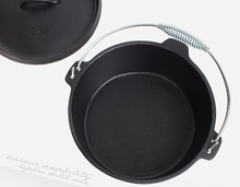 Korean style dutch oven cast iron cookware parts for electric oven