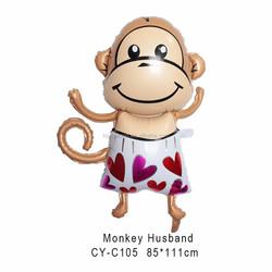 Monkey I love you helium balloon,Valentine' Day balloon