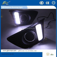 hiway auto drl high power led drl for Honda fit with fog light 2014 led drl turn signal light