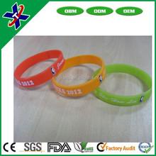 Free design wholesale custom bulk silicone bracelet wristband silicone hand band