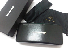 Top-grade classical hard glasses case with pouches and cardboard case