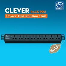 Universal power distribution unit 19inch 8way 10A 250v AC