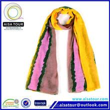 Fashion Striped Design Muslim Lady Scarf 8 Colors Winter Shawl and Hijab 2015