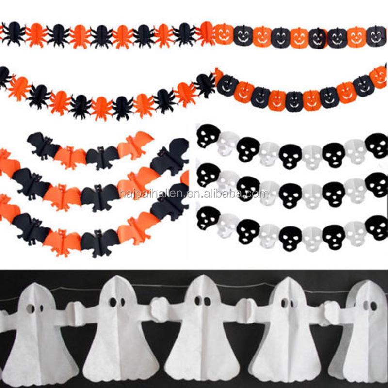 Hot Sale Halloween Skull Paper Garland Halloween Home Decorations ...