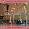 Grades de parede luz espaço estrutura pré-fabricada salão