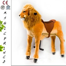 Factory With 7 Years Experiences Export To USA High Quality Mechanical Walking Horse For Kids, Human Power Walking Animal Riding