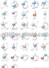 Low price alphabet letters A to Z letter alphabet floating charms