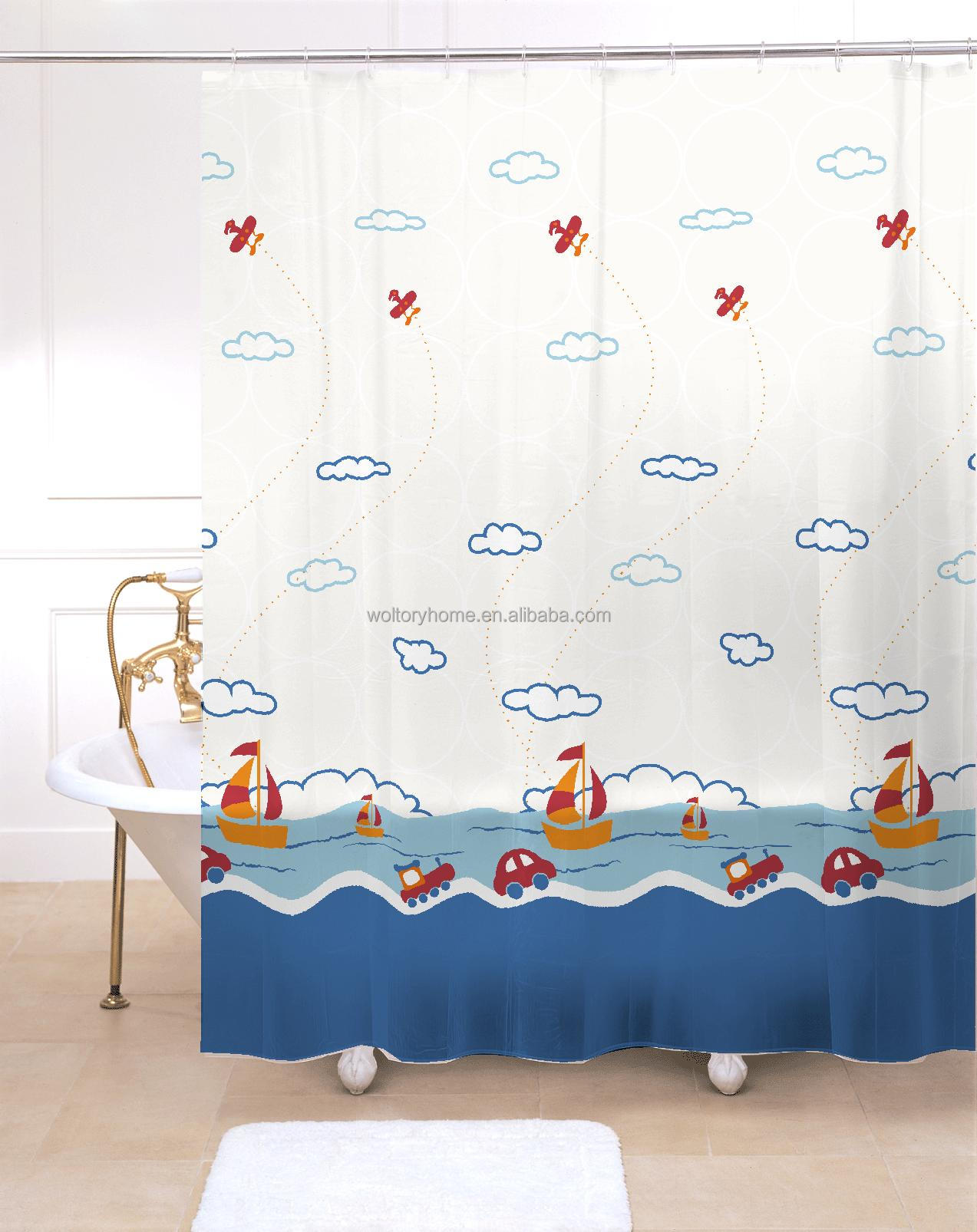 Hot Sale Bathroom Set Shower Curtain And Matching Pp Bath ...