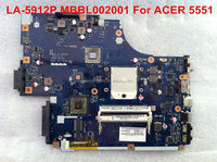 Wholesales LA-5912p MBBL002001 for 5551 AMD motherboard.full tested.Free shipping with DHL