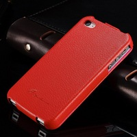 Newest high end genuine leather mobile phone case for Iphone 4 4S