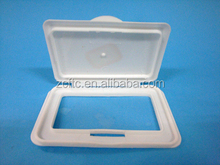 plastic wet towel cover flip top cap,plastic Wet towel cover, empty baby wipe container