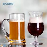 SANZO Beer Glasses Pilsner Glasses Oversized Half Pint Glasses Linz Hiball Glasses