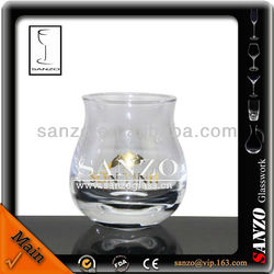 pewter bronzing decal vodka shot glass
