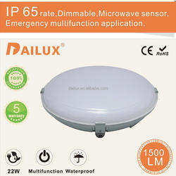 shenzhen recessed IP65 sensor 22w led ceiling light