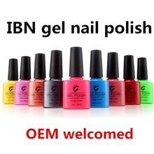 private label nail salon gel polish/soak off color uv gel polish