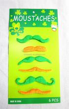 Green fancy dress St. Patrick's Day moustache