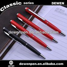 Short red/black matte pen in promotional metal pens
