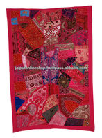 VINTAGE PATCHWORK HANDMADE WALL HANGING TAPESTRY Decor