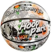 wholesale promotional Customized color rubber basketball size 5