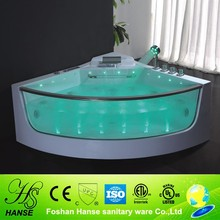HS-B309 triangular shape 138x138cm corner massage tub with waterfall
