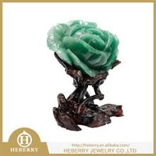 elegant rose quartz crystal sculpture all by handmade flower good for home decor