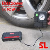 Boltpower G06A 12000Mah Movable jump starter with portable air compressor pump