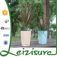 Wholesale garden small square shaped ceramic decorative indoor pp plastic planters flowerpot