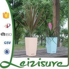 Wholesale garden small square shaped ceramic decorative indoor pp plastic planters flowerpot