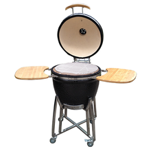 Outdoor Kitchen Xlarge Shiny 23.5 Inches Ceramic Kamado Grill