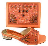SB420 orange color EUR size 38/39/40/41/42/43 message us which size you want italian shoes with matching bags