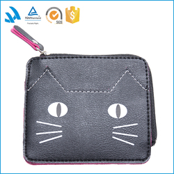 new cute buckle embossed PU coin purse business gift money change small bags