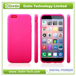 Soft brilliant color silicone case for iphone6 lead free more phone models available