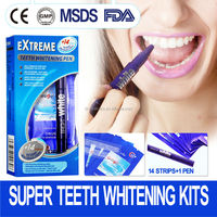 2015 new and hot sale oral care product Home Use Tooth whitening kit,better than 3d Crest whitestrips
