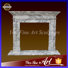 Freestanding Marble Stone Fireplace Surround