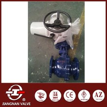 Cast steel ball valve electric soft seal trunnion mounted DN150