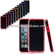ultra thin bumper frame PC +TPU cover case for Apple iphone5C