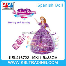 2015 new intelligent toys remote control Spanish doll from shantou, china