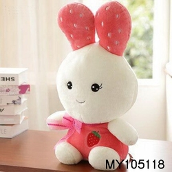 18inch Fruit ear shaped rabbit toys, stuffed toy rabbit doll wholesale