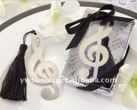 Fashion Timeless Duet Brushed-Metal Openwork Musical Note Bookmark Wedding Favors