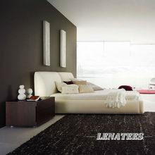 Suiying Platform Bed A092,Beige Bed, foshan Factory
