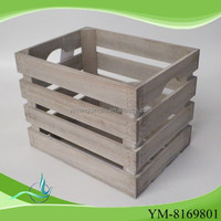 Low cost high quality shabby chic wood box
