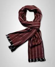Men's stripe fashion brushed fabric silk scarf