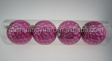 Good quality grid christmas hanging ball with hand painting