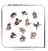 Beautiful Twelve Zodiacs Vintage Jewelry Making Beads Charms