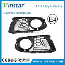 E90 LED daytime running lights for BMW 12pcs leds 6w one pair white