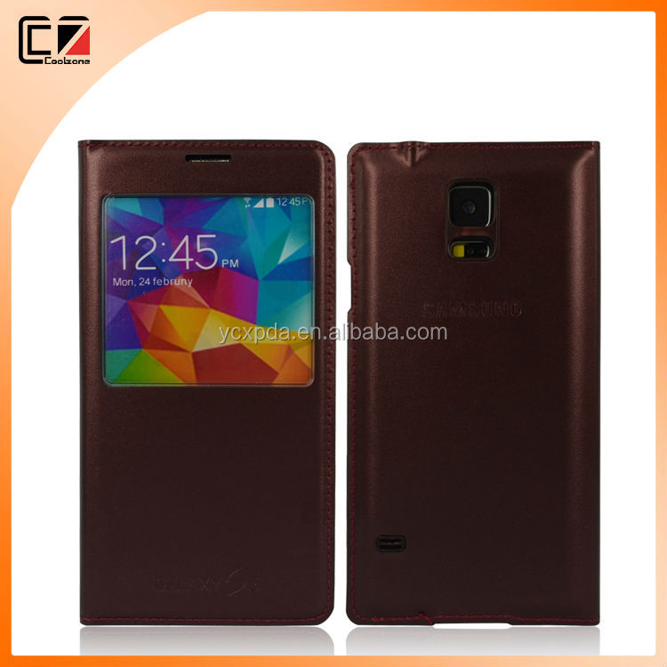 PU Flip Case for Samsung Galaxy S5,high quality PU Leather Flip Case for Samsung S5